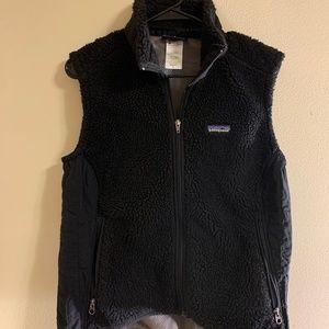 black Patagonia women's fleece vest